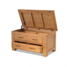 burnham blanket box with 2 drawers